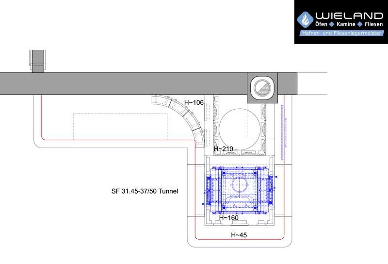 Wieland - Öfen - Kamine - Fliesen - CAD Zeichnungen